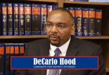decarlo hood district attorney candidate